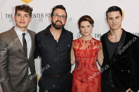 Stock Image of From left, Greg Sulkin, Carter Covington, Katie Stevens, and Michael J. Willett arrive at The Paley Center For Media Los Angeles Benefit Gala, in Los Angeles