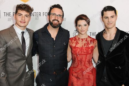 Stock Photo of From left, Greg Sulkin, Carter Covington, Katie Stevens, and Michael J. Willett arrive at The Paley Center For Media Los Angeles Benefit Gala, in Los Angeles