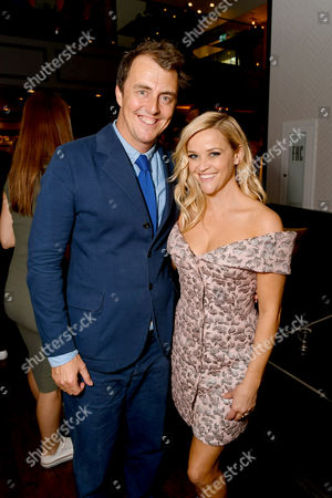 """Director/Writer Garth Jennings and Reese Witherspoon seen at Universal Pictures """"Sing"""" after party at the 2016 Toronto International Film Festival, in Toronto"""