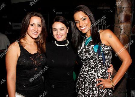 L-R) Melissa Marty, Davina Ferreira Alegria Magazine Publisher and Marcela Pizarro attend Vida Lexus and Alegria Magazine Present Sabor De Lujo on at Lure nightclub in Hollywood, Calif