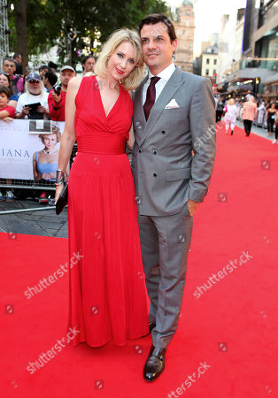Daniel Pirrie and guest arrive at the World Premiere of 'Diana',, in London