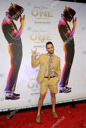 """Stock Photo of Singer Josh Strickland arrives at the world premiere of """"Michael Jackson ONE"""" at THEhotel at Mandalay Bay Resort and Casino on in Las Vegas"""