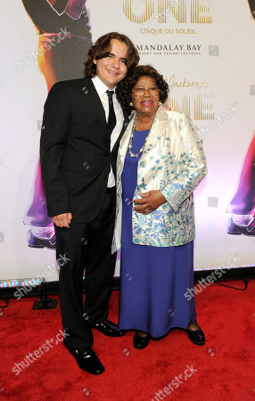 "Prince Jackson, left, and Katherine Jackson arrives at the world premiere of ""Michael Jackson ONE"" at THEhotel at Mandalay Bay Resort and Casino on in Las Vegas"