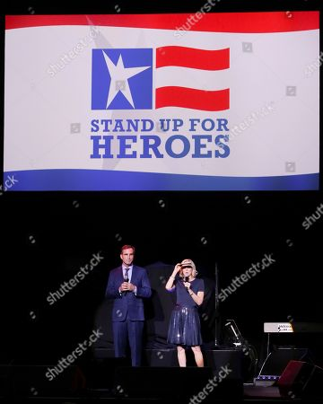 Bob Woodruff, Lee Woodruff. Co-Founders of the Bob Woodruff Foundation Bob Woodruff, left, and Lee Woodruff speak on stage during the 11th Annual Stand Up for Heroes benefit, presented by the New York Comedy Festival and The Bob Woodruff Foundation, at the Theater at Madison Square Garden, in New York