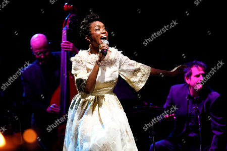 Heather Headley attends the Elton John AIDS Foundation's 25th Anniversary Gala at The Cathedral of St. John the Divine, in New York