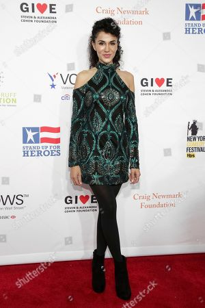 Layla Alizada attends the 11th Annual Stand Up for Heroes benefit, presented by the New York Comedy Festival and The Bob Woodruff Foundation, at the Theater at Madison Square Garden, in New York