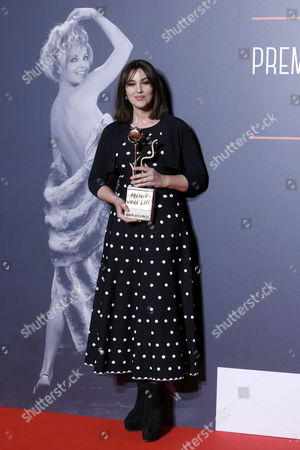 Monica Bellucci with the Virna Lisi Prize