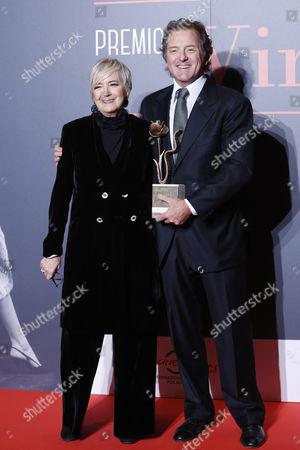 President of Foundation Cinema per Roma Piera Detassis with Corrado Pesci, son of Virna Lisi