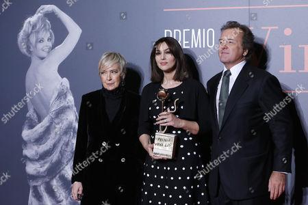 President of Foundation Cinema per Roma Piera Detassis, Monica Bellucci, Corrado Pesci son of Virna Lisi