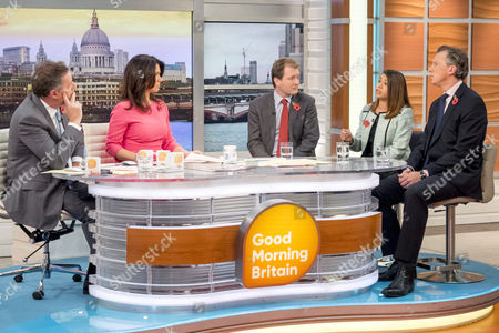 Richard Ratcliffe, Tulip Siddiq and Tom Newton Dunn with Susanna Reid and Piers Morgan