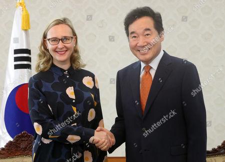 Editorial photo of Finnish house speaker visits South Korea, Seoul - 13 Sep 2017