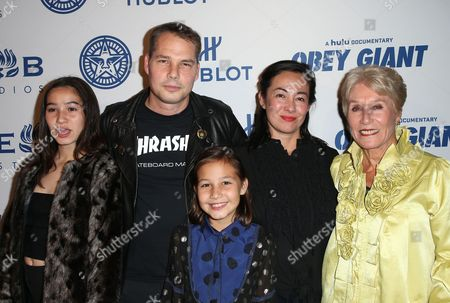 Stock Picture of Amanda Fairey, Shepard Fairey, Guests