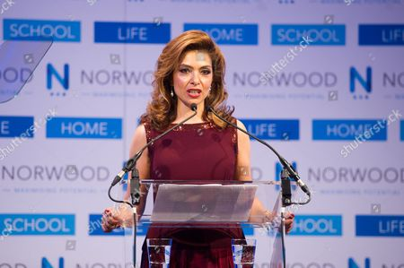 Philanthropist Carol Sopher, Chairperson of the Norwood Dinner.