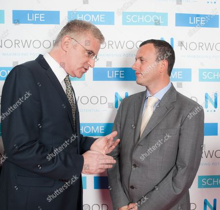 Israeli Ambassador to the UK Daniel Taub, with British Ambassador to Israel Matthew Gould.