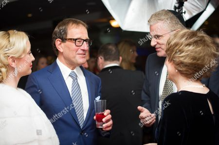 Joy Canfield and Richard Desmond with Israeli Ambassador to the UK, Daniel Taub and his wife Zehava.
