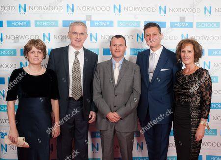 Stock Picture of Zehava and Daniel Taub, British Ambassador to Israel Matthew Gould, Chairman of Norwood David Ereira, CEO of Norwood Elaine Kerr.