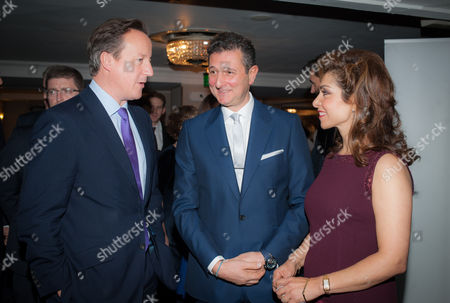 Prime Minister David Cameron with David Ereira, Chairman of Norwood, and Carol Sopher, Chairperson of the Norwood Dinner.
