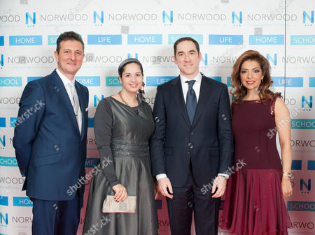 Chairman of Norwood David Ereira with Margalit Dweck and Rabbi Joseph Dweck the Senior Rabbi to the Sephardi Commmunity, and Chairperson of the Norwood Dinner Carol Sopher.
