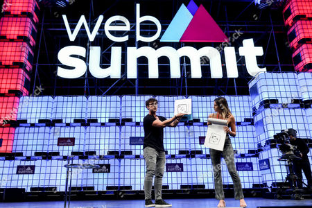 British Julius Dein, Social Media Star and Magician on stage during the third day the 7th Web Summit in Lisbon, Portugal, 08 November 2017. The annual technology and internet conference attracts over 60,000 attendees from more than 100 countries, according to the organizers.