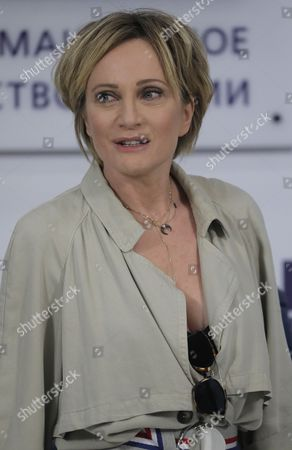 Editorial image of Patricia Kaas at press conference in Moscow, Russian Federation - 08 Nov 2017
