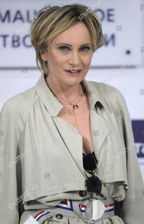 Editorial picture of Patricia Kaas at press conference in Moscow, Russian Federation - 08 Nov 2017