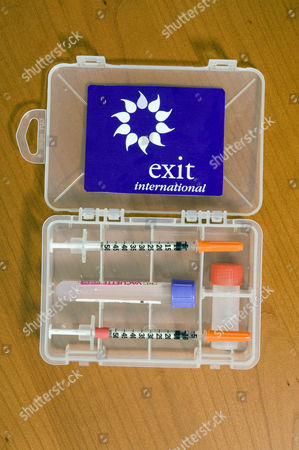The simple 'Exit Kit' which tests that the 100 mml barbiturate suspension will cause death.