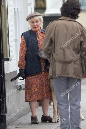Michele Dotrice as landlady Edna Friendship and Ben Whishaw as Norman Scott
