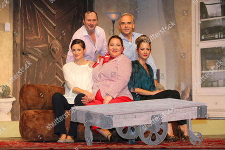 """Editorial image of Rehearsals for the play """"Das (perfekte) Desaster Dinner"""", Hamburg, Germany - 08 Nov 2017"""