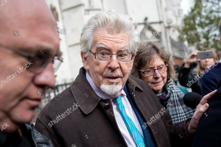 Stock Picture of Rolf Harris leaves The High Court after the second day of a new application to challenge his conviction for sex offences.