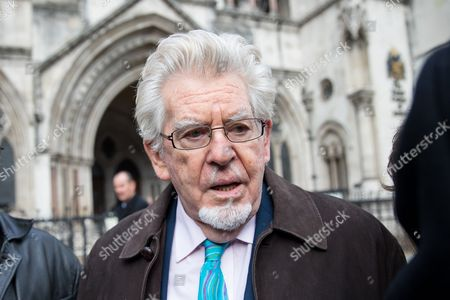 Rolf Harris leaves The High Court after the second day of a new application to challenge his conviction for sex offences.