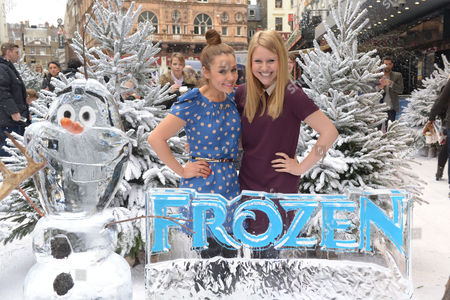 Stock Image of Amy Thomson, Olivia Birchenough attend Disney's 'Frozen' Gala Screening at the Odeon Leicester Square on in London, England