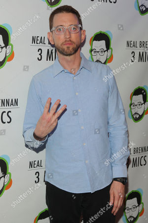 """Stock Picture of Neal Brennan attends the Broadway opening night party of """"Neal Brennan 3 MICS"""" at The Lynn Redgrave Theater, in New York"""