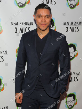 """Trevor Noah attends the Broadway opening night party of """"Neal Brennan 3 MICS"""" at The Lynn Redgrave Theater, in New York"""