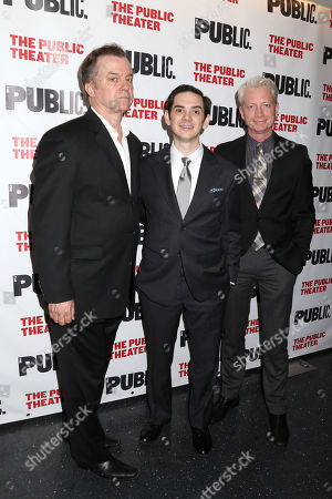 "Actors Michael O'Keefe, David L. Townsend and Ben Livingston attend the opening night party of ""The Library"" at The Public Theater on in New York"
