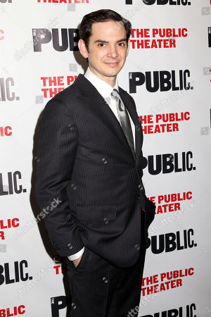"""Stock Photo of Actor David L. Townsend attends the opening night party of """"The Library"""" at The Public Theater on in New York"""