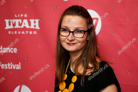 """Author Eleanor Henderson, who wrote the book the film is based, poses at the premiere of """"Ten Thousand Saints"""" during the 2015 Sundance Film Festival, in Park City, Utah"""