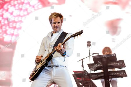 Dom Brown of Duran Duran seen at 2016 Outside Lands Music Festival at Golden Gate Park, in San Francisco, Calif
