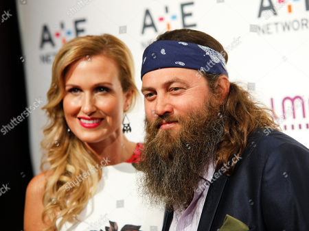 Korie Robertson, left, and Willie Robertson, right, attend the A+E Networks 2015 Upfront at the Park Avenue Armory, in New York