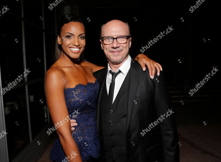 Ciera Foster and Paul Haggis attend the party for Artists for Peace & Justice Special Screening of Sony Pictures Classics and Paul Haggis' Third Person, in Los Angeles