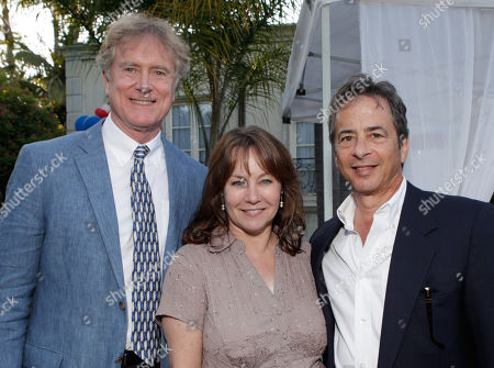 From left, Randall Wallace, Andrew Sugerman, and Melissa Bickerton attends the BAFTA Los Angeles 25th Anniversary Jubilee Garden Party on at Casey Kasem's estate in Los Angeles