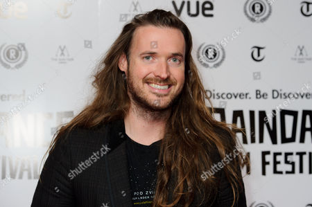 Stock Picture of Director, Mike Cahill arrives for the Raindance Film festival Opening Gala of I Origins at a central London cinema, London