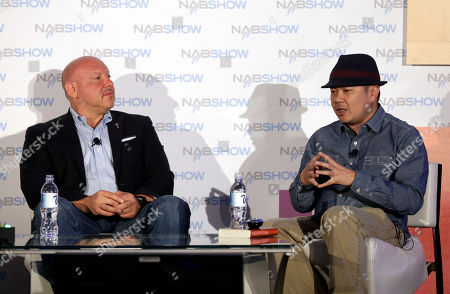 """Television Academy Governor Seth Shapiro hosts a conversation with show runner and producer Bernie Su during """"From Lizzie Bennet to Emma: Taking an Emmy Award Winner to the Next Level,"""" on in Las Vegas"""