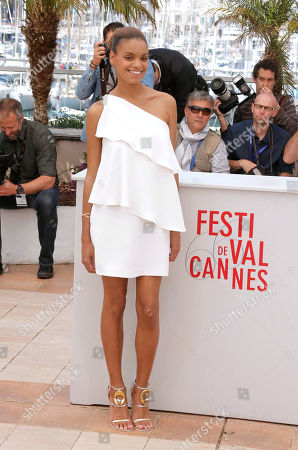 Stock Photo of Actor Anais Monory poses for photographers during a photo call for the film Grigris at the 66th international film festival, in Cannes, southern France