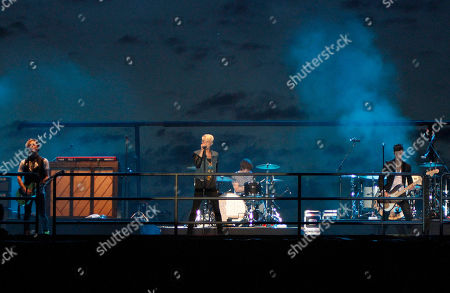 Stock Photo of Pop rock band Hot Chelle Rae performed at the Riverbend Festival, in Chattanooga, TN