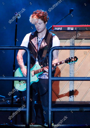 Stock Image of Pop rock band Hot Chelle Rae performed at the Riverbend Festival, in Chattanooga, TN