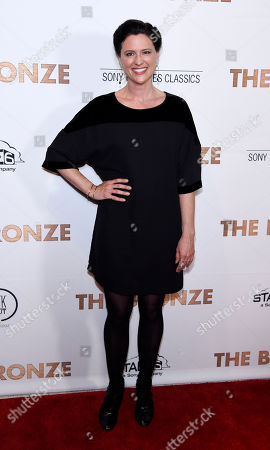 "Actress Jennifer Lafleur poses at the premiere of the film ""The Bronze"" at the Pacific Design Center, in West Hollywood, Calif"