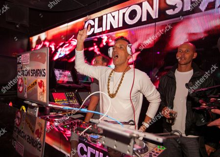 Stock Photo of Clinton Sparks DJs at the Lollapalooza After-Show at The Underground, in Chicago