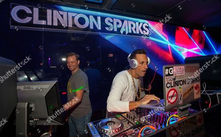 Stock Image of Clinton Sparks DJs at the Lollapalooza After-Show at The Underground, in Chicago