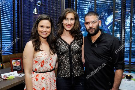 Katie Lowes, Lollipop Theater's Evelyn Iocolano and Guillermo Diaz at Lollipop Theater Network's 'Scandalicious May', on Wednesday, May, 8, 2013 in West Hollywood