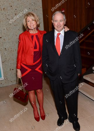 "Steve and Christine Schwarzman attend the ""Big Eyes"" premiere after party at Kappo Masa, in New York"